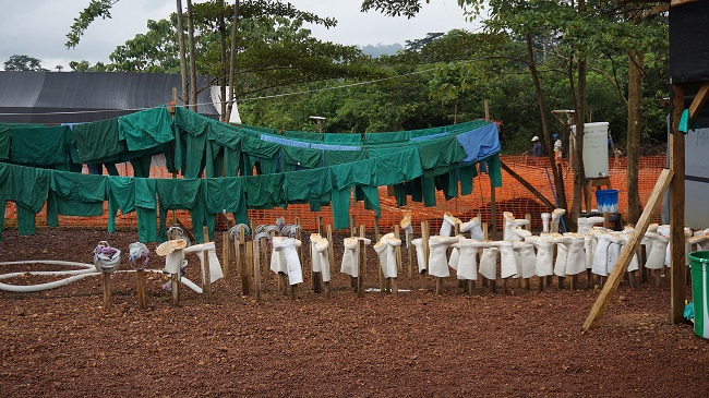 Scene from the Ebola outbreak in Sierra Leone
