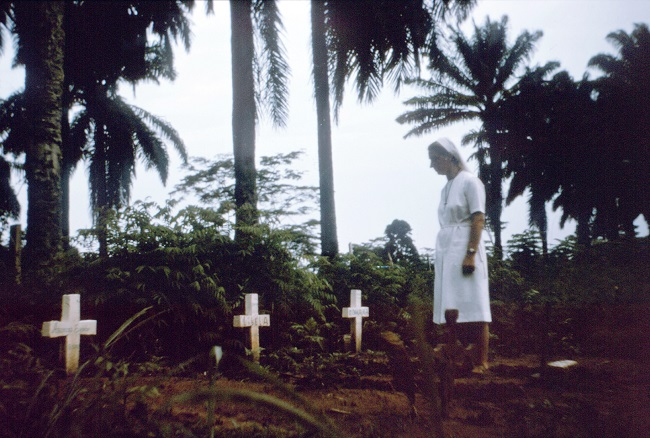 Nurse nun visits graves of victims of 1976 Zaire Ebola outbreak