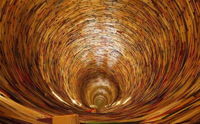 Spiral of books