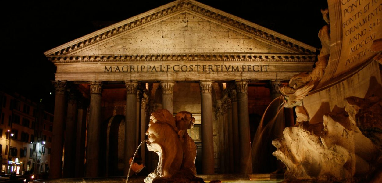 The Pantheon, built during the Roman Empire