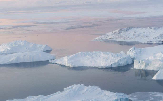 Icebergs in Ilulissat Icefjord, Greenland