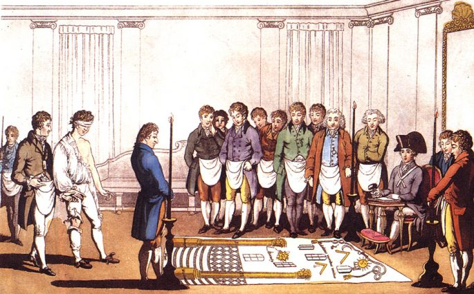 Initiation of Freemason Apprentice
