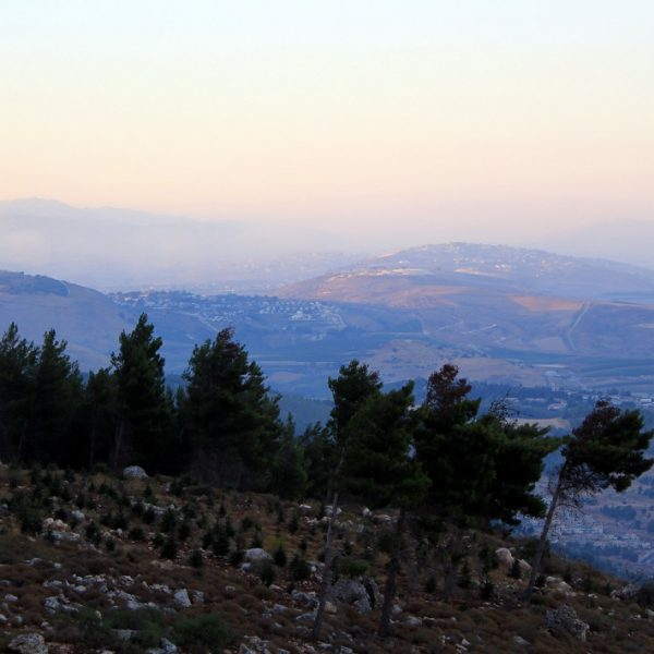 View from Manara Cliff at sunset in Israel
